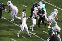 quarterback Ryan Fitzpatrick (14) of the Miami Dolphins beim Pass - 08.12.2019: New York Jets vs. Miami Dolphins, MetLife Stadium New York