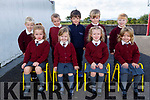 Miss McElligotts Junior infants class in Kilmoyley NS on Tuesday Seated l to r: Isabelle Dennihan, Grace Gaynor, Amelia O'Brien and Niamh Collins. Back l to r: Adam Conway, Alex Horgan, Paud Og Murphy, Harrison Cahill and Ben O'Shea.