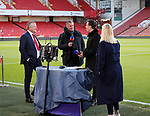 Chris Wilder manager of Sheffield Utd chats to Sky Tv pundits Jamie Carragher and Gary Neville during the Premier League match at Bramall Lane, Sheffield. Picture date: 10th January 2020. Picture credit should read: Simon Bellis/Sportimage