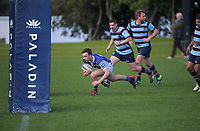 Action from the Auckland Under-85kg club rugby union match between University Squids and Marist at Colin Maiden Park in Auckland, New Zealand on Saturday, 25 July 2020. Photo: Dave Lintott / lintottphoto.co.nz