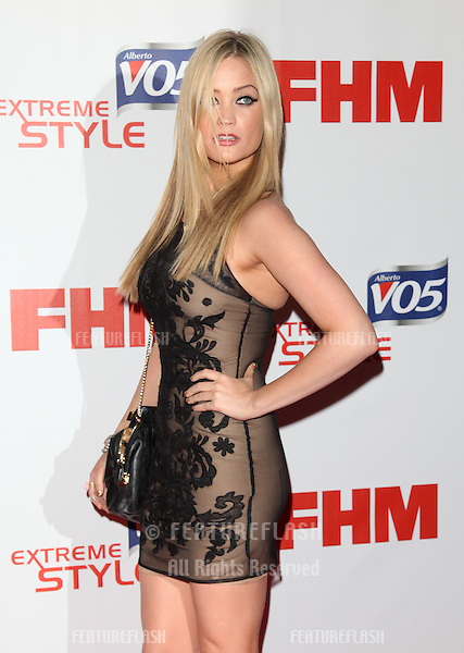 Laura Whitmore arriving at FHM 100 Sexiest Women In The World 2012 - Launch Party, Proud Bank, London. 01/05/2012 Picture by: Alexandra Glen / Featureflash