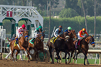 ARCADIA, CA  DECEMBER 26:  The start of the San Antonio Stakes (Grade ll) on December 26, 2017 at Santa Anita Park in Arcadia, CA. (Photo by Casey Phillips/ Eclipse Sportswire/ Getty Images)
