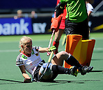 The Hague, Netherlands, June 13: Lydia Haase #12 of Germany reacts to a play during the field hockey placement match (Women - Place 7th/8th) between Korea and Germany on June 13, 2014 during the World Cup 2014 at Kyocera Stadium in The Hague, Netherlands. Final score 4-2 (2-0)  (Photo by Dirk Markgraf / www.265-images.com) *** Local caption ***