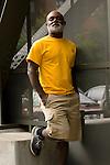 African American man, hands in pockets, portrait