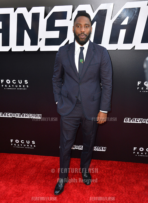 "John David Washington at the Los Angeles premiere of ""BlacKkKlansman"" at the Academy's Samuel Goldwyn Theatre, Beverly Hills, USA 08 Aug. 2018<br /> Picture: Paul Smith/Featureflash/SilverHub 0208 004 5359 sales@silverhubmedia.com"