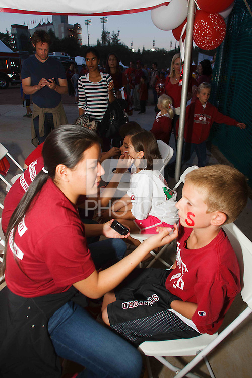 STANFORD,CA-- October 5, 2013: Fan Fest before the Stanford vs Washington game Saturday night at Stanford Stadium.<br /> <br /> Stanford won 31-28.