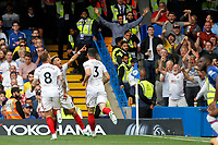 GOAL - Callum Robinson of Sheffield United is the scorer during the Premier League match between Chelsea and Sheff United at Stamford Bridge, London, England on 31 August 2019. Photo by Carlton Myrie / PRiME Media Images.