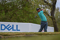Shubhankar Sharma (IND) watches his tee shot on 12 during day 2 of the World Golf Championships, Dell Match Play, Austin Country Club, Austin, Texas. 3/22/2018.<br /> Picture: Golffile | Ken Murray<br /> <br /> <br /> All photo usage must carry mandatory copyright credit (&copy; Golffile | Ken Murray)