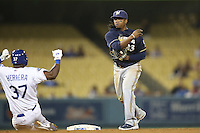 05/31/12 Los Angeles, CA: Milwaukee Brewers second baseman Rickie Weeks #23 during an MLB game between the Milwaukee Brewers and the Los Angeles Dodgers played at Dodger Stadium. The Brewers defeated the Dodgers 6-2.