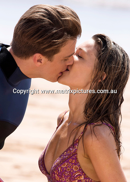 Sam Frost On Set Of Home & Away For First Screen Kiss