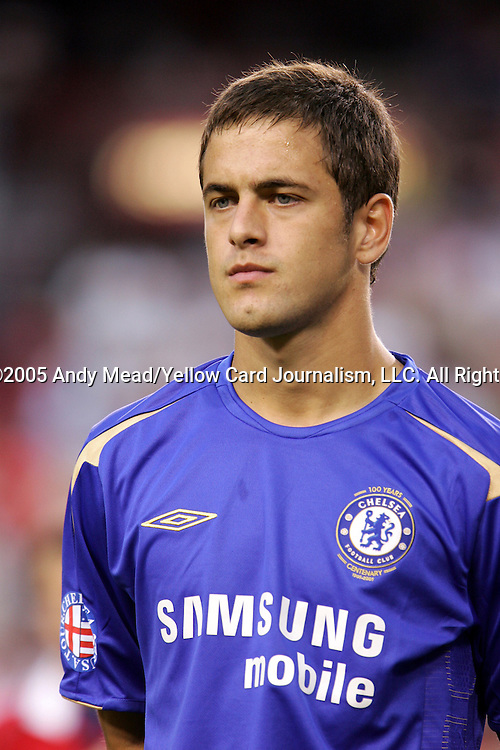28 July 2005: Joe Cole. Chelsea FC of England defeated DC United of Major League Soccer 2-1 at Fedex Field in Landover, Maryland in an international friendly soccer match. .