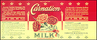 BNPS.co.uk (01202 558833)<br /> Picture: Nestle/BNPS<br /> <br /> ****Please use full byline****<br /> <br /> Carnation milk. <br /> <br /> A selection of vintage chocolate and sweets wrappers have been unearthed to help trigger happy memories in dementia sufferers.<br /> <br /> Some of the earliest examples of the Rowntrees packaging dates from the 1920s and includes the first wrappers for famous treats such as Aero, Dairy Box, and Fruit Gums.<br /> <br /> As the brands were updated over the years the paper casing was gradually changed but examples of the early versions were stored in an archive.<br /> <br /> Historians at Rowntrees have now placed images of the packets on an online document so that they can be seen by dementia sufferers as a way to reminisce.
