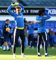 Preston North End's Callum Robinson during the pre-match warm-up <br /> <br /> Photographer David Shipman/CameraSport<br /> <br /> The EFL Sky Bet Championship - Ipswich Town v Preston North End - Saturday 3rd November 2018 - Portman Road - Ipswich<br /> <br /> World Copyright &copy; 2018 CameraSport. All rights reserved. 43 Linden Ave. Countesthorpe. Leicester. England. LE8 5PG - Tel: +44 (0) 116 277 4147 - admin@camerasport.com - www.camerasport.com