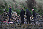 Remains of a body found at the mouth of the Boyne at Baltray, Co.Louth...(Photo credit should read Jenny Matthews www.newsfile.ie)....This Picture has been sent you under the condtions enclosed by:.Newsfile Ltd..The Studio,.Millmount Abbey,.Drogheda,.Co Meath..Ireland..Tel: +353(0)41-9871240.Fax: +353(0)41-9871260.GSM: +353(0)86-2500958.email: pictures@newsfile.ie.www.newsfile.ie.