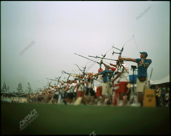 Archery, Men's Individual Raking Round, Olympics, Beijing, China, August 9, 2008