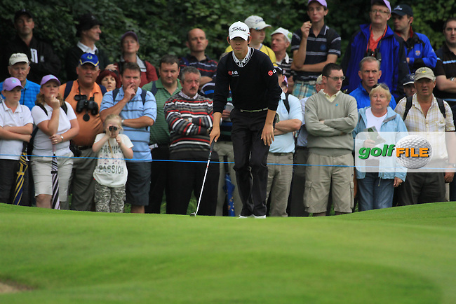 Seung-yul Noh on the 16th green during day two of the 3 Irish Open, at the Killarney Golf and Fishing Club, Killarney, Ireland.Picture Fran Caffrey/www.golffile.ie.