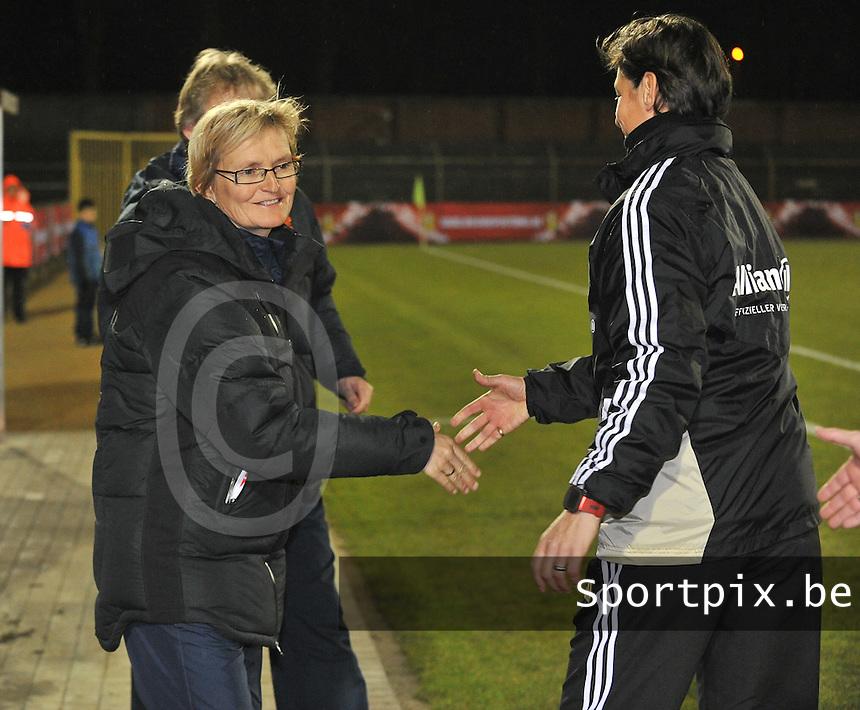 U17  Netherlands - U17 Germany : Maria van Kortenhof (NED) ..foto DAVID CATRY / Vrouwenteam.be
