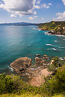 Russell Coast line seen from Tapeka Point, Russell, Bay of Islands, Northland Region, North Island, New Zealand