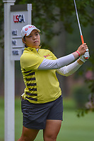 Ariya Jutanugarn (THA) watches her tee shot on 11 during round 1 of the U.S. Women's Open Championship, Shoal Creek Country Club, at Birmingham, Alabama, USA. 5/31/2018.<br /> Picture: Golffile   Ken Murray<br /> <br /> All photo usage must carry mandatory copyright credit (© Golffile   Ken Murray)