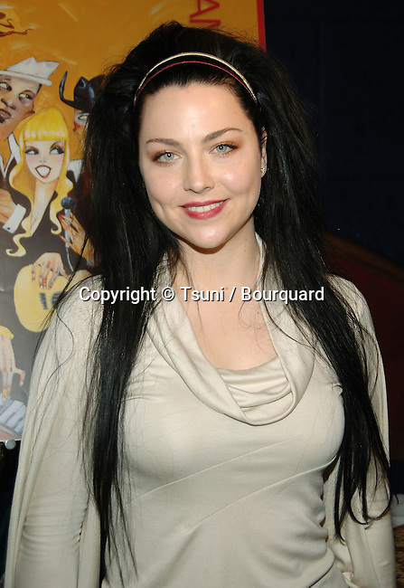 Amy Lee  at the 49th GRAMMYs Nominations at the Music Box @ The Fonda Theatre In Los Angeles.<br /> <br /> headshot<br /> eye contact<br /> smile