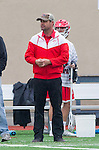 Orange, CA 03-05-17 - Chapman Coach Dallas Hartley on the sidelines in action during the UCLA - Champman Southern Lacrosse Conference MCLA Division 1 Men's Lacrosse game.