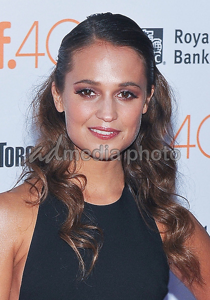 "12 September 2015 - Toronto, Ontario, Canada - Alicia Vikander. ""The Danish Girl"" Premiere during the 2015 Toronto International Film Festival held at  Princess of Wales Theatre. Photo Credit: Brent Perniac/AdMedia"