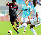 September 10th 2017, Olimpic Stadium, Rome, Italy; Serie A football league, Lazio versus AC Milan;   Frank Kessie in shooting action as de Vrij tries to block