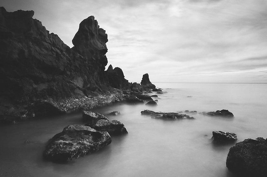 Little Corona Del Mar, Newport Beach CA                              35mm image on Ilford Delta 100 film