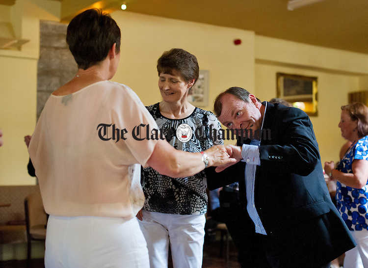 Karl Bonner treating the ladies to a dance at the Lisdoonvarna Matchmaking Festival. Photograph by John Kelly.