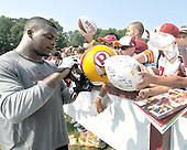 Ashburn, VA - July 20, 2008 -- Running back Clinton Portis (26) signs autographs following the first practice of the 2008 Washington Redskins training camp at Redskins Park in Ashburn Virginia on Sunday, July 20, 2008..Credit: Ron Sachs / CNP