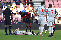 Injury concern for Liam Coyle of Liverpool during AFC Bournemouth Under-21 vs Liverpool Under-21, Premier League Cup Football at the Vitality Stadium on 24th February 2019