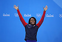 Simone Manuel (USA), <br /> AUGUST 13, 2016 - Swimming : <br /> Women's 50m Freestyle Medal Ceremony <br /> at Olympic Aquatics Stadium <br /> during the Rio 2016 Olympic Games in Rio de Janeiro, Brazil. <br /> (Photo by Yohei Osada/AFLO SPORT)
