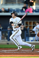 Vanderbilt Commodores infielder Penn Murfee (16) at bat during a game against the Indiana State Sycamores on February 20, 2015 at Charlotte Sports Park in Port Charlotte, Florida.  Vanderbilt defeated Indiana State 3-2.  (Mike Janes/Four Seam Images)