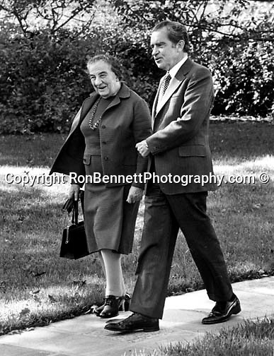 Israel Primer Minister Golda Meir and President Richard Nixon,