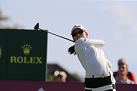Mi Hyang Lee (KOR) tees off the 6th tee during Thursday's Round 1 of The Evian Championship 2018, held at the Evian Resort Golf Club, Evian-les-Bains, France. 13th September 2018.<br /> Picture: Eoin Clarke | Golffile<br /> <br /> <br /> All photos usage must carry mandatory copyright credit (© Golffile | Eoin Clarke)
