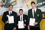 Boys Basketball finalists Duane Bailey,Houston O'Riley &  Rbert Loe. ASB College Sport Young Sportperson of the Year Awards 2007 held at Eden Park on November 15th, 2007.