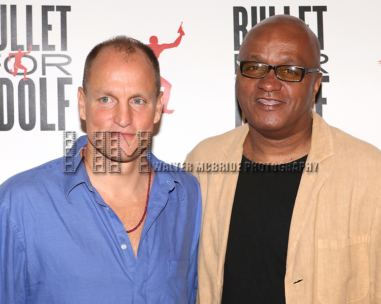 Woody Harrelson & Frankie Hyman.attending the Meet & Greet for 'Bullet For Adolf' at the Snapple Rehearsal Studios in New York City on 6/26/2012 © Walter McBride / WM Photography / Retna Ltd.