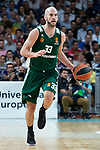 Panathinaikos Nick Calathes during Turkish Airlines Euroleague Quarter Finals 3rd match between Real Madrid and Panathinaikos at Wizink Center in Madrid, Spain. April 25, 2018. (ALTERPHOTOS/Borja B.Hojas)