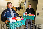 Pat Murphy Foodshare and Paddy Kevane Saint Vincent DePaul ar the Foodshare depot in TRalee.