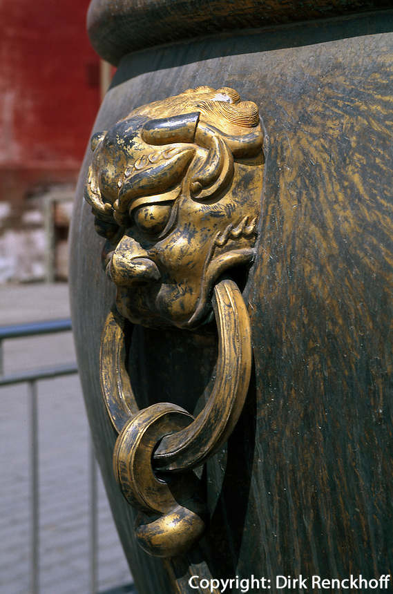 China, Peking, Kaiserpalast, vor Halle der höchsten Harmonie, Unesco-Weltkulturerbe