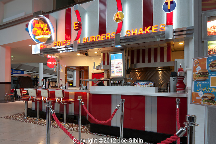 Johnny Rocket's Providence Place Mall, photographed on Friday, January 27, 2012.  (Photo/Joe Giblin)