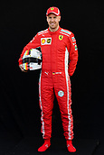 22nd March 2018, Melbourne Grand Prix Circuit, Melbourne, Australia; Melbourne Formula One Grand Prix, Arrivals and Press Conference; Sebastian Vettel of Germany poses for a portrait