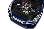 Car Stock 2017 Nissan GT-R Black-Edition 2 Door Coupe Engine  high angle detail view
