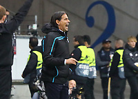 Trainer Simone Inzaghi (Lazio Rom) - 04.10.2018: Eintracht Frankfurt vs. Lazio Rom, UEFA Europa League 2. Spieltag, Commerzbank Arena, DISCLAIMER: DFL regulations prohibit any use of photographs as image sequences and/or quasi-video.