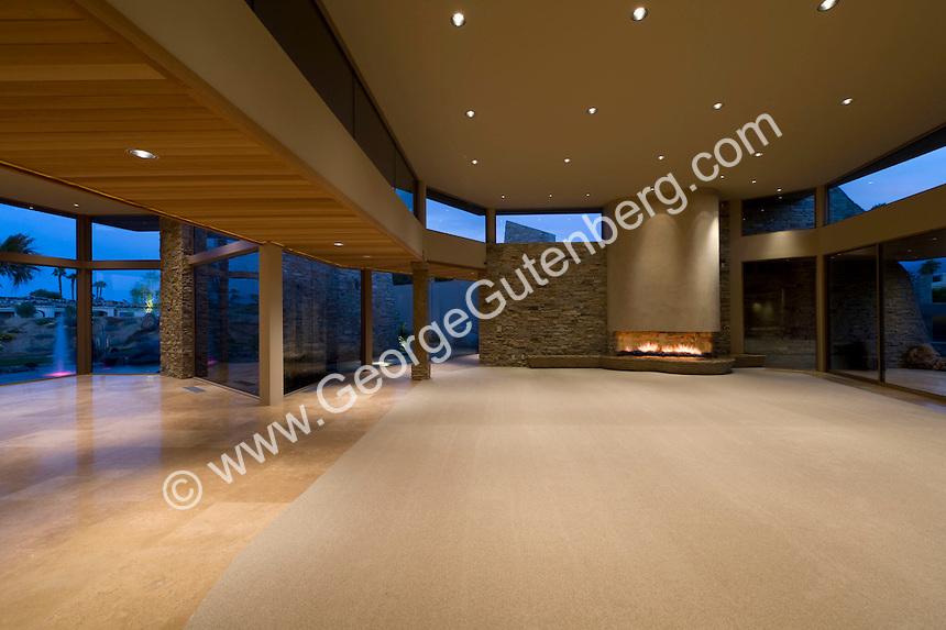 Guy Dreier Design new contempory living room with no furniture