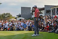Rory McIlroy (NIR) watches his long birdie attempt on 18 during round 4 of the World Golf Championships, Mexico, Club De Golf Chapultepec, Mexico City, Mexico. 2/24/2019.<br /> Picture: Golffile | Ken Murray<br /> <br /> <br /> All photo usage must carry mandatory copyright credit (© Golffile | Ken Murray)