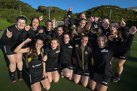 Dalefield celebrates winning the Wellington premier women's hockey final between Dalefield and East Hutt at The National Hockey Stadium, Wellington, New Zealand on Saturday, 12 August 2017. Photo: Dave Lintott / lintottphoto.co.nz