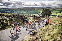 Chloe Dygert (USA) up Cray Hill<br /> <br /> Elite Women Road Race from Bradford to Harrogate (149km)<br /> 2019 Road World Championships Yorkshire (GBR)<br /> <br /> ©kramon