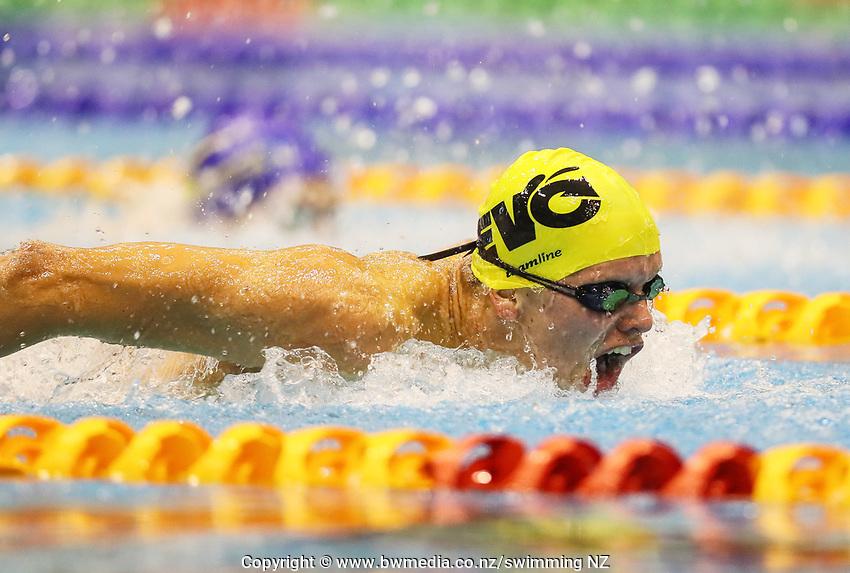 Lachlainn O'Connor. Swimming New Zealand Aon National Age Group Championships, Wellington Regional Aquatic Centre, Wellington, New Zealand, Tuesday 15 2019. Photo: Simon Watts/www.bwmedia.co.nz