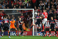 Patrick Bauer of Charlton heads the ball towards the Doncaster goal during Charlton Athletic vs Doncaster Rovers, Sky Bet EFL League 1 Play-Off Football at The Valley on 17th May 2019